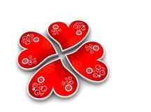 καρδιές τριφυλλιού όπως διανυσματική απεικόνιση