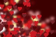 Καρδιές των διαφορετικών χρωμάτων Στοκ Εικόνα