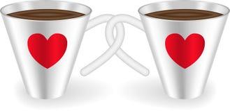 καρδιές φλυτζανιών ελεύθερη απεικόνιση δικαιώματος