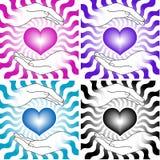 καρδιές χεριών Στοκ Εικόνες