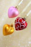 καρδιές Χριστουγέννων Στοκ εικόνα με δικαίωμα ελεύθερης χρήσης