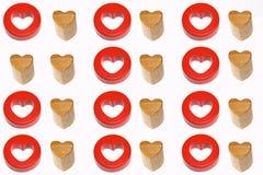 καρδιές όπως δύο Στοκ Εικόνες