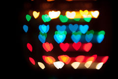 Καρδιές Bokeh Στοκ εικόνες με δικαίωμα ελεύθερης χρήσης