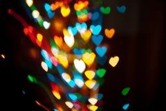 Καρδιές Bokeh Στοκ εικόνα με δικαίωμα ελεύθερης χρήσης