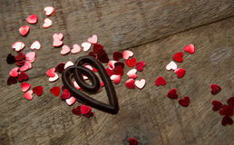 Καρδιές Chocolat Στοκ φωτογραφία με δικαίωμα ελεύθερης χρήσης