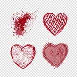 Καρδιές Doodle, ημέρα βαλεντίνων, διακοπές αγάπης Στοκ Εικόνα