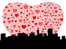 καρδιές SAN Francisco διανυσματική απεικόνιση