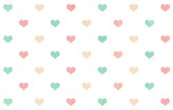 Καρδιές Watercolor στο άσπρο υπόβαθρο Στοκ Φωτογραφίες