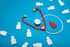 Καρδιολογία μωρών, ιατρική παιδιατρικής Στηθοσκόπιο, προσοχή στοκ εικόνες
