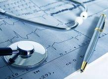 καρδιολογική δοκιμή στοκ εικόνα