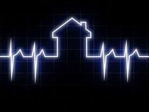 καρδιο σπίτι διανυσματική απεικόνιση