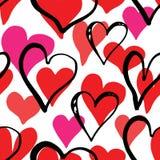 Καρδιών διανυσματική απεικόνιση σχεδίων συμβόλων άνευ ραφής Συρμένο χέρι υπόβαθρο σκίτσων doodle Backgro ημέρας Αγίου Valentains  διανυσματική απεικόνιση