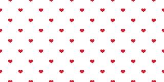 Καρδιών το άνευ ραφής σχεδίων μαντίλι κινούμενων σχεδίων αγάπης βαλεντίνων διανυσματικό απομόνωσε το υπόβαθρο κεραμιδιών απεικόνι διανυσματική απεικόνιση