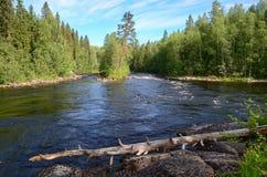Καρελιανός ποταμός Στοκ εικόνες με δικαίωμα ελεύθερης χρήσης