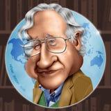 Καρικατούρα Chomsky Noam στοκ φωτογραφίες