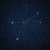Καρκίνος αστερισμού στο νυχτερινό ουρανό Στοκ φωτογραφία με δικαίωμα ελεύθερης χρήσης