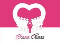 Καρκίνος του μαστού γραφικός με το σχέδιο στοκ εικόνες