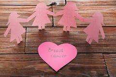 Καρκίνος του μαστού επιγραφής Στοκ εικόνες με δικαίωμα ελεύθερης χρήσης
