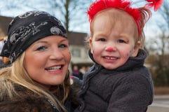 καρναβάλι γιορτάζει τη μητέρα κορών Στοκ φωτογραφία με δικαίωμα ελεύθερης χρήσης