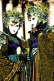 καρναβάλι λογαριάζει την Ιταλία Βενετία Στοκ Εικόνες