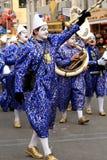 καρναβάλι που βαδίζει pierrots Στοκ Φωτογραφίες
