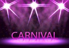Καρναβάλι, φεστιβάλ, παρουσιάζει Σκηνικός φωτισμός, εξέδρα Στοκ φωτογραφία με δικαίωμα ελεύθερης χρήσης
