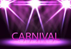 Καρναβάλι, φεστιβάλ, παρουσιάζει Σκηνικός φωτισμός, μια εξέδρα, Στοκ Εικόνες