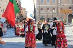 Καρναβάλι με τις σημαίες χωρών ` s Στοκ Φωτογραφία