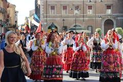 Καρναβάλι με τις σημαίες χωρών ` s Στοκ φωτογραφίες με δικαίωμα ελεύθερης χρήσης