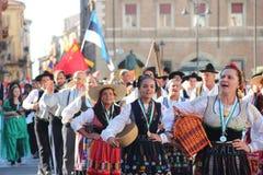 Καρναβάλι με τις σημαίες χωρών ` s Στοκ φωτογραφία με δικαίωμα ελεύθερης χρήσης