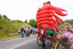 Καρναβάλι της παρέλασης φεστιβάλ γιγάντων σε Telford Shropshire Στοκ Φωτογραφία