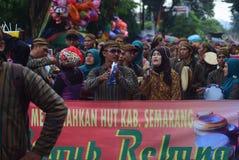 Καρναβάλι της περιοχής του Σεμαράνγκ επετείου πολιτισμών Στοκ Φωτογραφίες