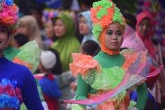 Καρναβάλι της περιοχής του Σεμαράνγκ επετείου πολιτισμών Στοκ φωτογραφία με δικαίωμα ελεύθερης χρήσης