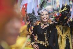 Καρναβάλι της περιοχής του Σεμαράνγκ επετείου πολιτισμών Στοκ φωτογραφίες με δικαίωμα ελεύθερης χρήσης