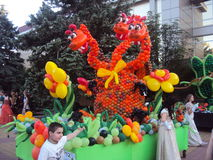 Καρναβάλι Το άνοιγμα της περιόδου διακοπών Στοκ Εικόνες