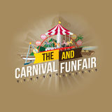 Καρναβάλι funfair Στοκ Εικόνες