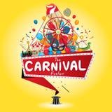 Καρναβάλι funfair Στοκ Φωτογραφίες