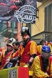 Καρναβάλι Ivrea Η μάχη των πορτοκαλιών Στοκ Εικόνα