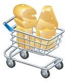 Καροτσάκι αγορών πώλησης Στοκ Φωτογραφία