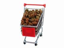 καροτσάκι αγορών τροφίμων  Στοκ φωτογραφία με δικαίωμα ελεύθερης χρήσης
