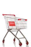 Καροτσάκι υπεραγορών αγορών που απομονώνεται Στοκ Εικόνες