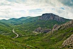 Καρπάθια κοιλάδα της Ουκρανίας βουνών Στοκ φωτογραφία με δικαίωμα ελεύθερης χρήσης