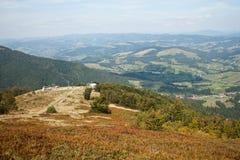 Καρπάθια κορυφαία όψη βουνών Στοκ φωτογραφία με δικαίωμα ελεύθερης χρήσης