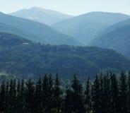 Καρπάθια κορυφαία όψη βουνών Στοκ Φωτογραφίες