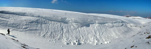 Καρπάθιο χιόνι βουνών χάσμα&t Στοκ Εικόνες