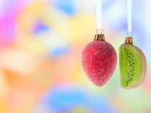 καρποί διακοσμήσεων Χρι&sig Στοκ Εικόνα