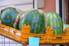 Καρπούζια Smiley Στοκ φωτογραφία με δικαίωμα ελεύθερης χρήσης
