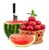καρπούζι μήλων Στοκ Εικόνα