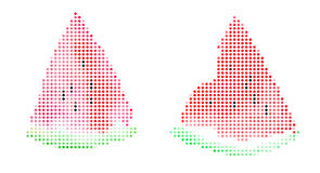Καρπούζι που απομονώνεται Απεικόνιση εικονοκυττάρου Στοκ φωτογραφία με δικαίωμα ελεύθερης χρήσης