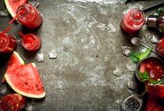 Καρπούζι chocktail με τη μέντα Στοκ Εικόνα
